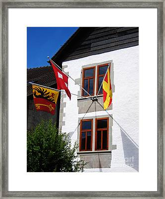 Three Flags Framed Print