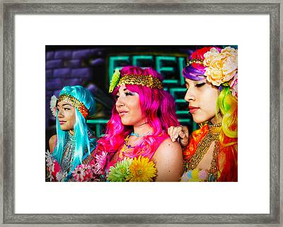 Three Flower Princesses  Framed Print