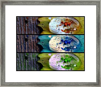 Three Fold Being Framed Print by Bianca Van Heumen