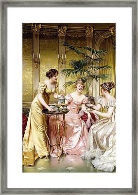 Three For Tea Framed Print