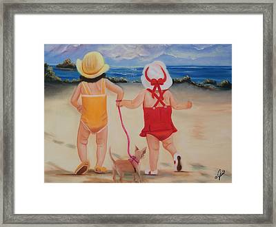 Three For The Beach Framed Print by Joni McPherson