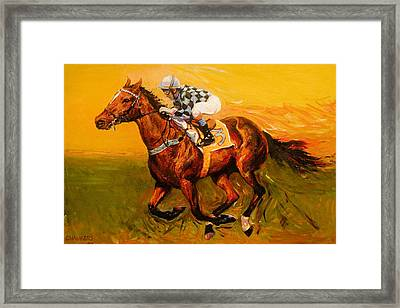 Three For The Show Framed Print