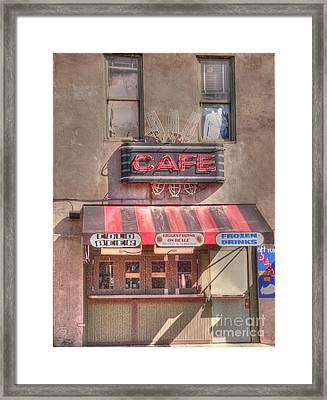 Three Forks Cafe Framed Print by David Bearden