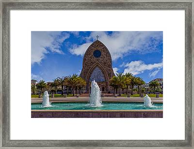 Three Fountains Of Ave Maria Framed Print by Gail Hare