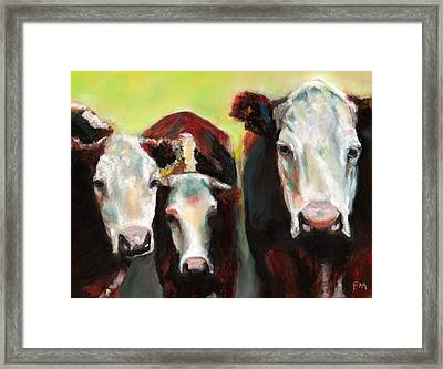 Three Generations Of Moo Framed Print