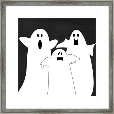 Three Ghosts Framed Print by Linda Woods