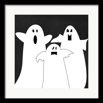 Ghost Mixed Media Framed Prints