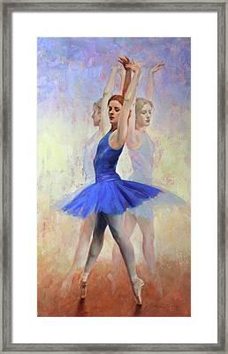 Three Graces Framed Print by Anna Rose Bain