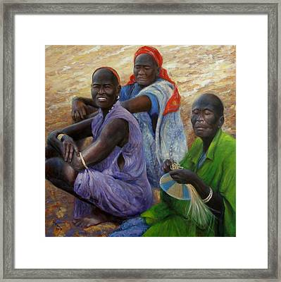 Framed Print featuring the painting Three Graces by Donelli  DiMaria