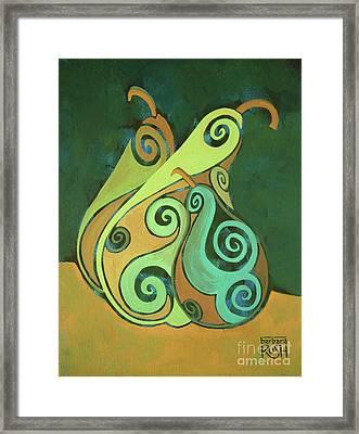 Three Groovy Little Pears Framed Print