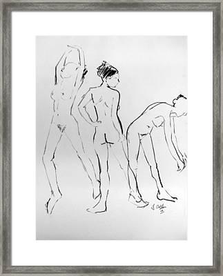 Three Hail Marys Framed Print by Joanne Claxton