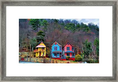 Framed Print featuring the photograph Three Houses Hot Springs Ar by Diana Mary Sharpton