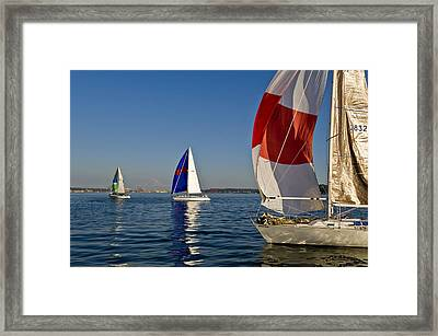 Three In A Row Framed Print by Tom Dowd