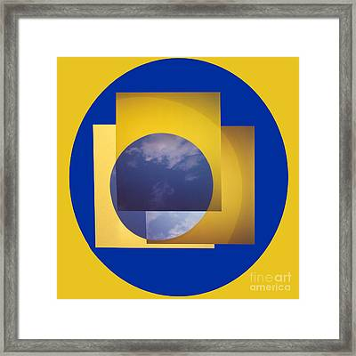 Three In One Square Yellow Framed Print