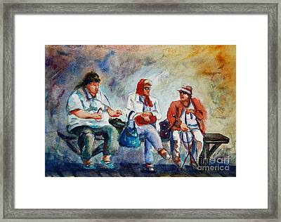 Three In San Diego Framed Print by Joyce A Guariglia