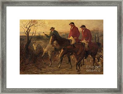 Three Jolly Huntsmen Framed Print