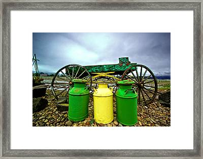 Three Jugs Framed Print by Dale Stillman