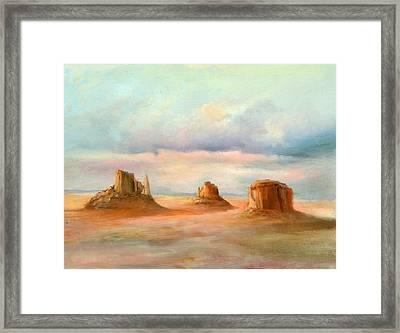 Three Kings Framed Print by Sally Seago