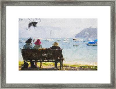 Three Ladies Framed Print by Avalon Fine Art Photography