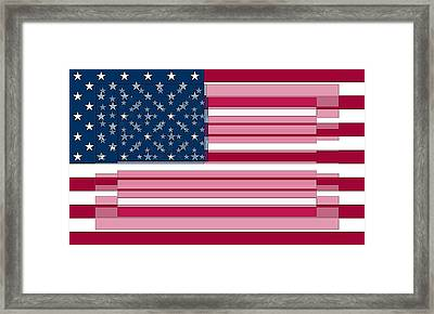 Three Layered Flag Framed Print by David Bridburg