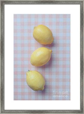 Three Lemons Framed Print by Edward Fielding