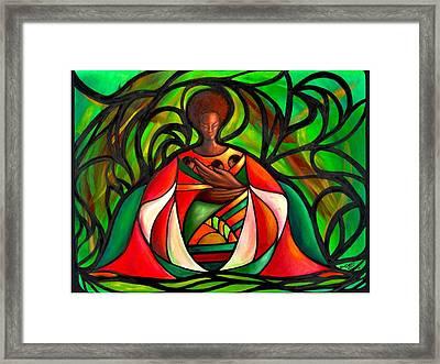 Three Little Birds Framed Print by Lee Grissett
