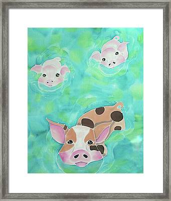 Three Little Pigs  Framed Print