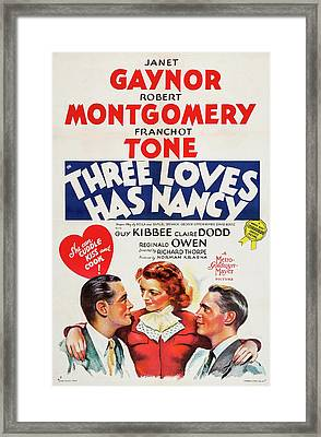 Three Loves Has Nancy 1938 Framed Print by M G M