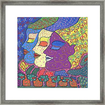 Three Maidens Framed Print by Sharon Nishihara
