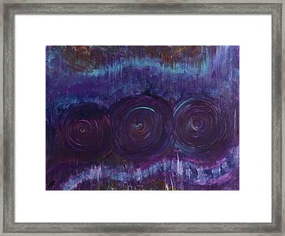 Three Mandalas Framed Print