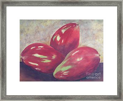Three Mangos Framed Print