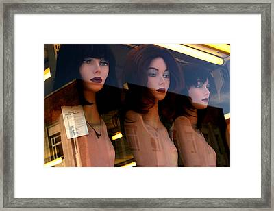 Three Mannequteers Framed Print by Jez C Self