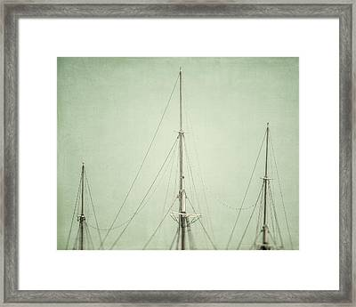 Three Masts Framed Print by Lisa Russo