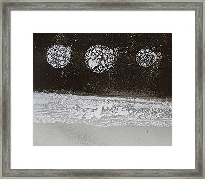 Three Moons Framed Print by Leah Hicks