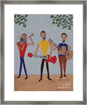 Three Musicians Framed Print by Gregory Davis