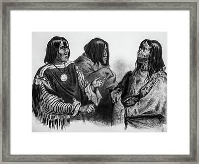 Three Native American Chiefs Framed Print