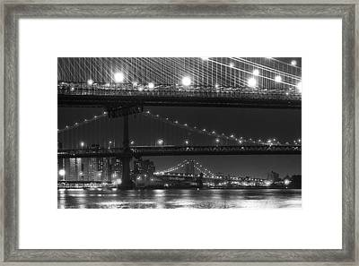 Three New York Bridges 2 Framed Print