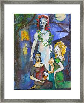 Three Of Cups Framed Print by Erika Brown