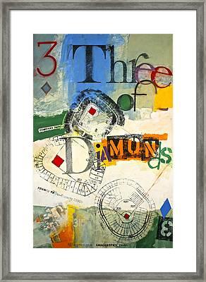 Three Of Diamonds 31-52 Framed Print