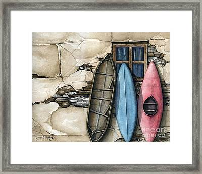 Three Old Boats Framed Print by James Stanley