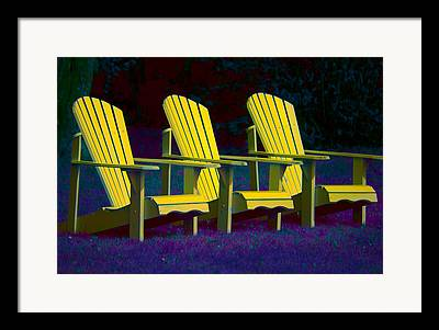 Andirondak Chairs Framed Prints