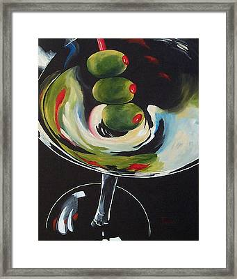 Three Olive Martini IIi  Framed Print by Torrie Smiley
