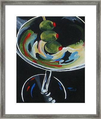 Three Olive Martini V  Framed Print by Torrie Smiley