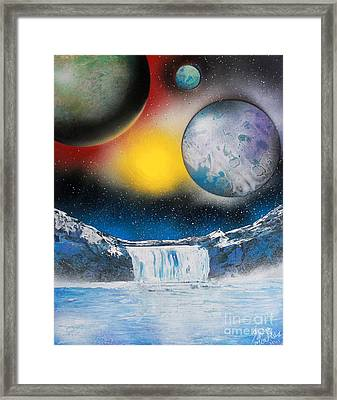 Three On Horizon Framed Print by Greg Moores