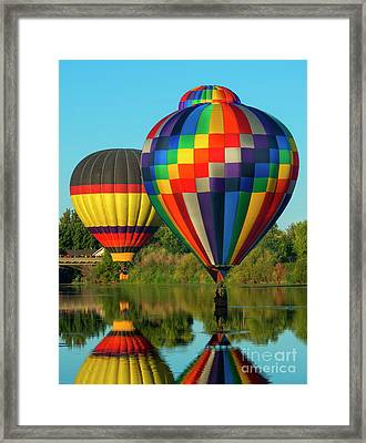 Three Over The River Framed Print