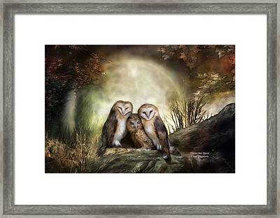 Three Owl Moon Framed Print