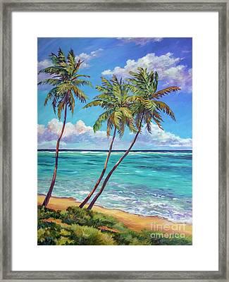 Three Palms Framed Print