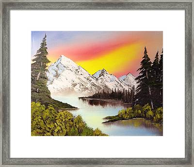 Three Peaks Framed Print by Casey Barnes