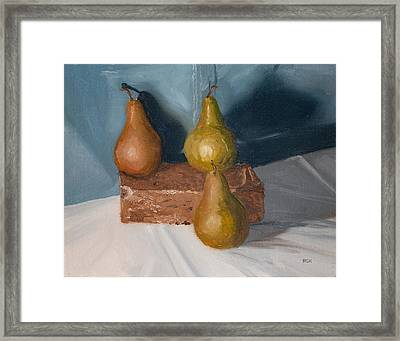 Three Pears Framed Print