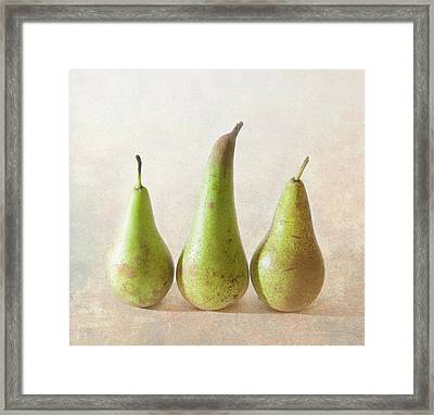 Three Pears Framed Print by Peter Chadwick LRPS